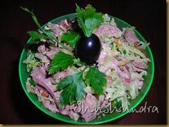 рецепт татарская кухня, салат из редьки