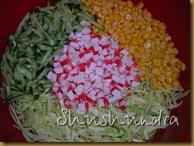 салат из крабовых палочек, крабовый салат с капустой, салат из свежей капусты