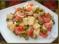 салат с яблоком, салат витаминный