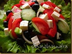 греческий салат с брынзой, рецепт греческий салат