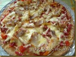 рецепт приготовления пиццы, итальянская пицца, пицца с беконом, толстая основа