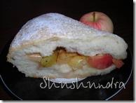 яблочный пирог, пирог с корицей, дрожжевое тесто