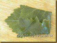 приготовление долмы, листья для долмы