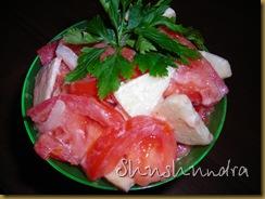 болгарский салат, салат из яблок, летний салат