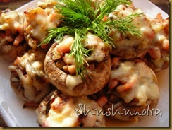 фаршированные шампиньоны, блюда из шампиньонов, приготовить шампиньоны, шампиньоны в духовке, запеченные шампиньоны
