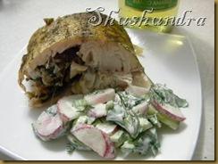 судак фаршированный, рецепт фаршированная рыба, фаршированная запеченная рыба, запеченный судак, как приготовить судака
