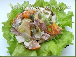 салат с хурмой, хурма рецепты, необычные салаты, рецепты необычные салаты, рецепты необычные салаты, салаты к новогоднему столу, салатная заправка