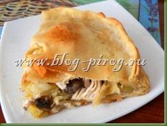 курник с картошкой, курник рецепт с фото, курник с курицей и картошкой, пирог с курицей и грибами, как приготовить курник, приготовление курника, рецепт теста для курника, слоеный пирог с курицей