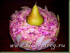 салат с мясом, рецепт с грушей, салат гранатовый браслет, рецепты салаты с мясом, слоеные салаты с фото, вкусные слоеные салаты