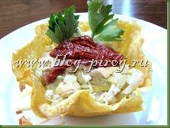 сырные корзиночки, сырная корзинка, сырные корзиночки с салатом, рецепт корзиночки сырные, салат в сырной корзинке, как сделать сырную корзинку