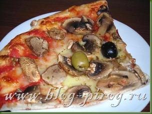 рецепт итальянская пицца,  пицца с грибами, вегетарианская пицца, тесто для тонкой пиццы, capriccioso, традиционная итальянская кухня
