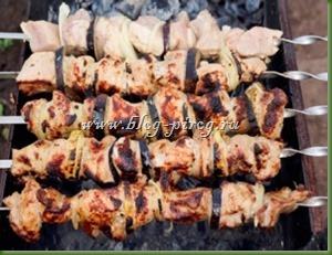 шашлык с киви, шашлык из свинины с киви, рецепт шашлыка с киви, маринад для шашлыка с киви
