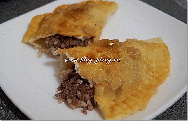 рецепт чебуреков с мясом, чебуреки с рисом, грузинские чебуреки, чебуреки рецепт теста с фото