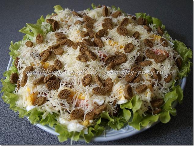 простой рецепт салата цезарь с сухариками